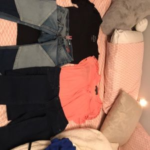 Shirts and jeans